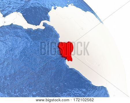 Ecuador On Elegant Globe
