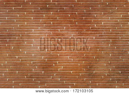 Red brick wall texture or background for the design.