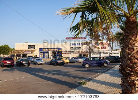El Raso, Spain - July 16, 2015 a small shopping center