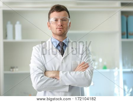 Portrait of scientist in laboratory