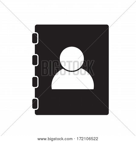 contacts book on white background. contacts book sign.