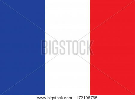 Flag France. France flag background vector illustration.