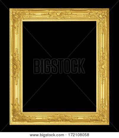 Antique Frame Isolated On Black Background