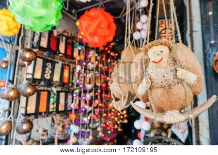 Souvenir Shop at Market in Thailand, Samui island