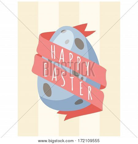 Easter holiday celebration vector illustration. Kids baby sweets food decoration and symbol. Tradional seasonal greeting card vector illustration