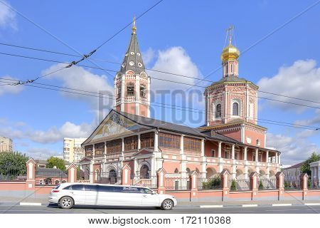 SARATOV RUSSIA - September 09.2016: Beautiful old Orthodox Holy Trinity Cathedral on Museum Square