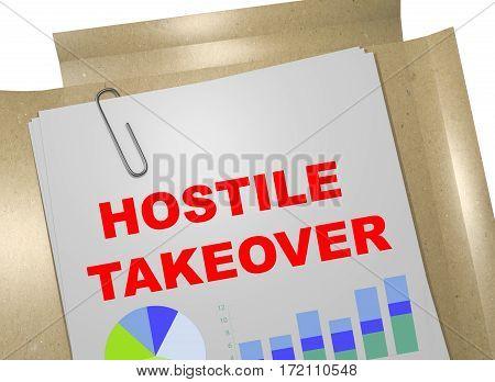 Hostile Takeover Concept