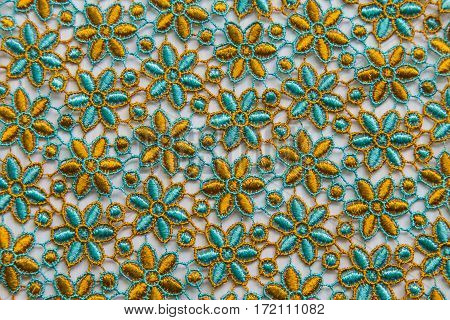 Colorful lace on white background. No any trademark or restrict matter in this photo.