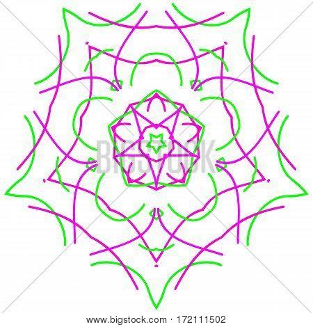 Circle ornament design element vector graphics white background.