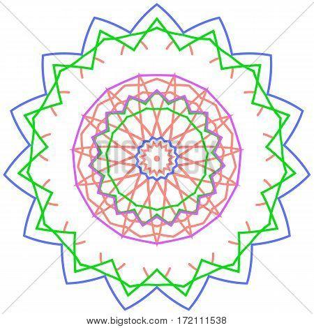 Original circle ornament design element vector graphics.