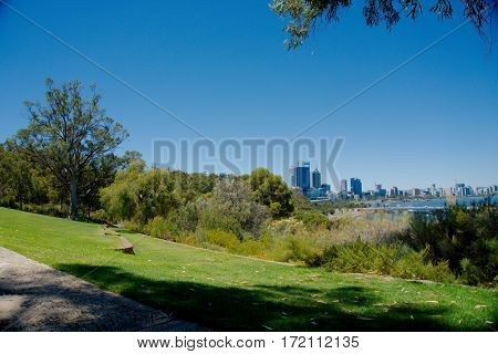 A view of the Perth Central Business District from Kings Park