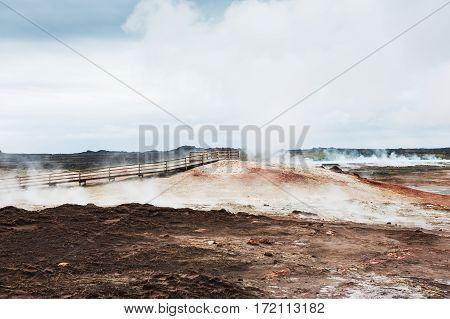 Gunnuhver geothermal area Reykjanes peninsula in Iceland