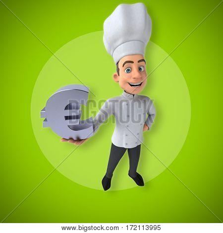 Fun chef- 3D Illustration