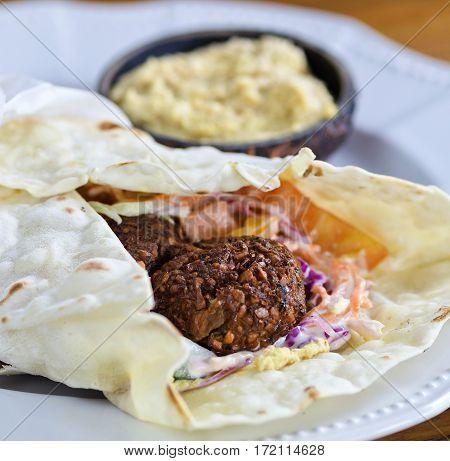 Pita Bread With Falafel