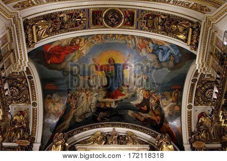 SAINT-PETERSBURG RUSSIA - JANUARY 03 2017: The painting