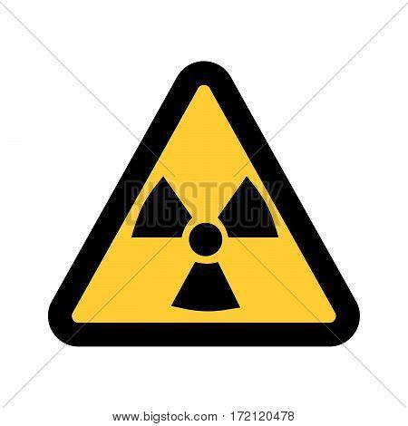 Radiation warning sign, isolated on white background Vector illustration