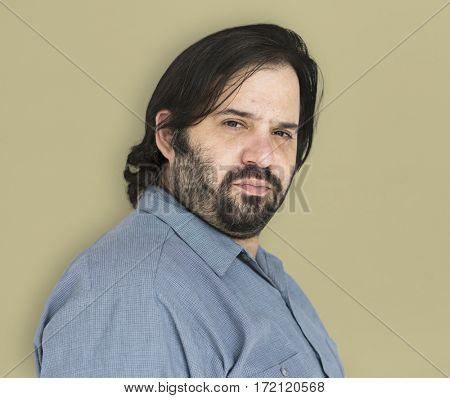 Caucasian Male Man Focused Concentrated