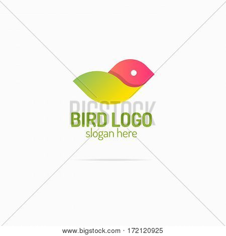 Bird logo modern color style for your business corporate identity. Vector Illustration
