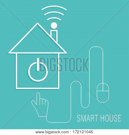 Smart home sign icon. Smart house button. Remote control. Modern UI website navigation. Vector illustration