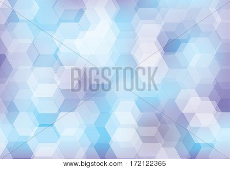 Vector hexagonal background texture pattern colorful sky and blue.
