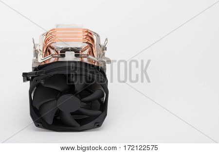 New Modern Fan For Processor On White Background