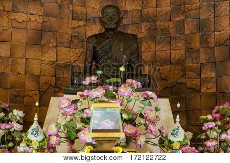 SAKONNAKHON THAILAND - February 11 2017 : Wat Pa Sutdhawas Buddha temple sakon nakhon Thailand.