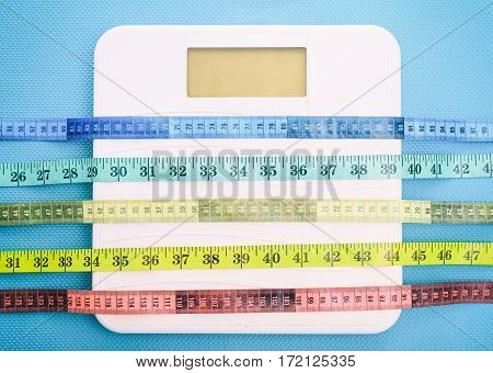 Bathroom Scale And Measure Tapes