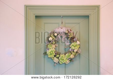 The decoration of the door of the room