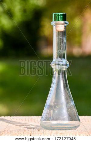Vintage Old Fashioned Glass Bottle