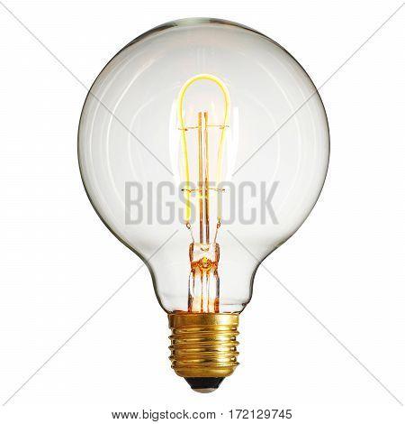 Led Bulb Isolated On White Background. Led Lightbulb. Led Light. Clipping Path
