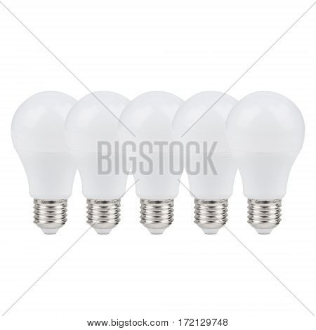 Led Bulbs Isolated On White Background. Led Lightbulbs. Led Lights. Clipping Path