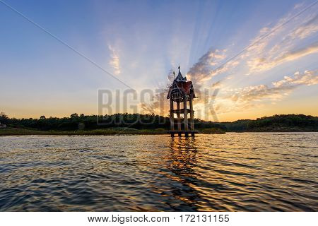 Nice Lake view point in sunset time