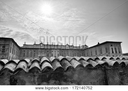 Castellazzo di Bollate (Milan Lombardy Italy): Villa Arconati historic palace built in the 17h century. Black and white