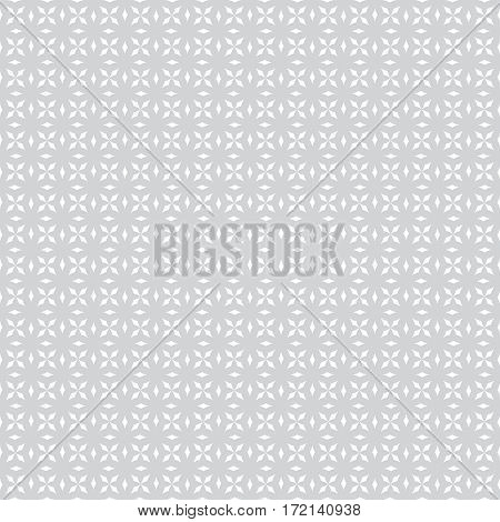 Classical seamless pattern. Modern stylish geometric texture. Regularly repeating small rhombuses diamonds crosses. Vector gray white monochrome abstract background