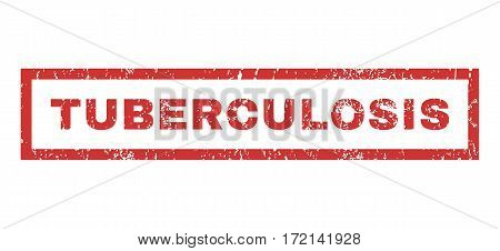 Tuberculosis text rubber seal stamp watermark. Tag inside rectangular shape with grunge design and unclean texture. Horizontal vector red ink sticker on a white background.