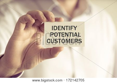 Identify Potential Customers Message Card