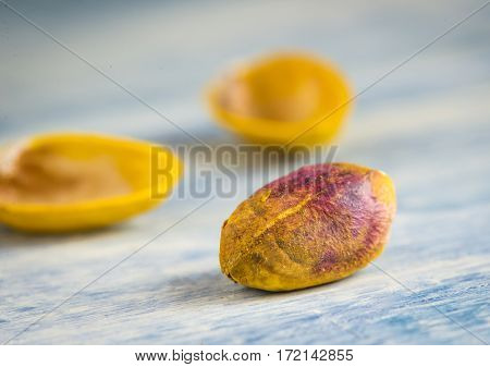 Purified pistachio. Macro close-up