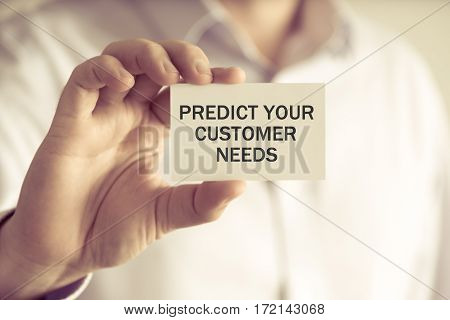 Predict Your Customer Needs Message Card