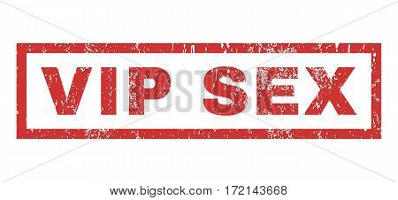 Vip Sex text rubber seal stamp watermark. Caption inside rectangular banner with grunge design and scratched texture. Horizontal vector red ink sign on a white background.