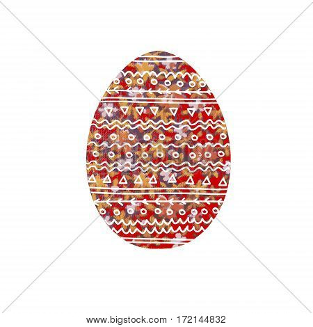 Easter egg. Image of an egg with floral ornament. Image of an egg with floral ornament