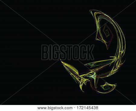 the abstract and a black scorpion tail