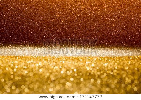 Festive abstract background with golden gradient fill