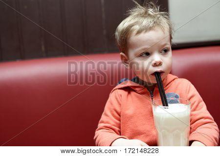 Child Drinking Milkshake