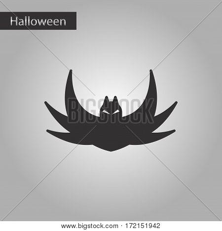 black and white style icon of halloween bat