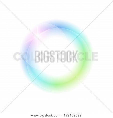 Bright circle on a light background. Modern object for the logo.