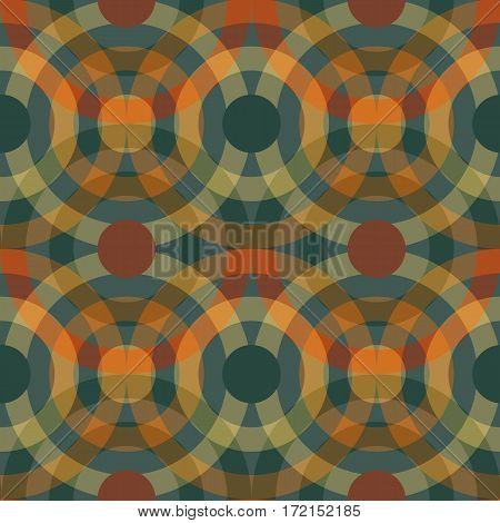 Abstract geometric circles seamless pattern. Vector illustration.