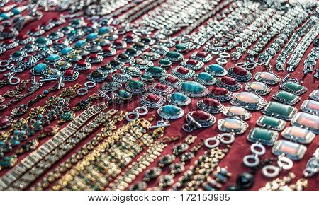 Eastern market presents a wide variety of elegant and fashionable necklaces and traditional jewelry