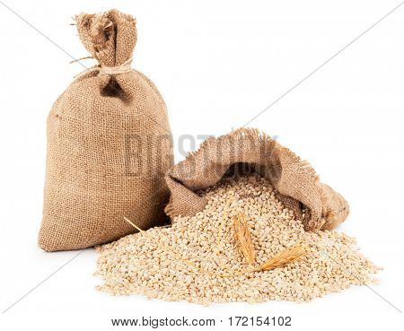 Bags with pearl barley