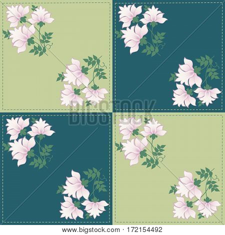 floral geometric pattern for the background patchwork