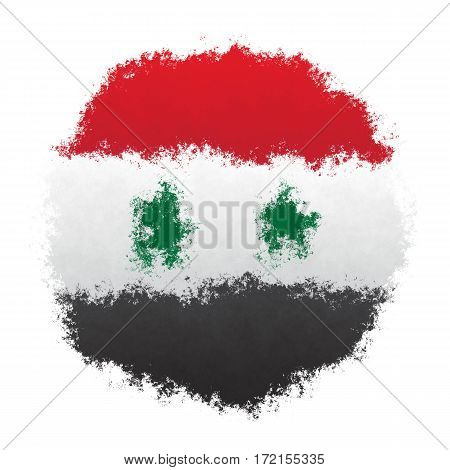 Color spray stylized flag of Syria on white background